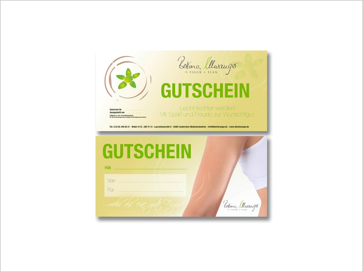 Grafikdesign | Gutschein | Bettina Ellwanger | © debeuf grafikdesign