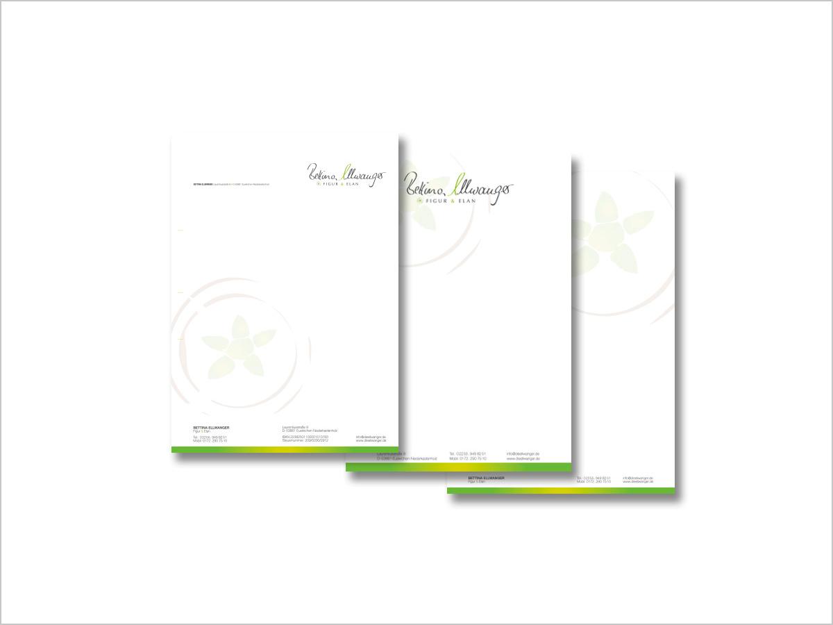 Grafikdesign | Geschäftsausstattung für Bettina Ellwanger | © debeuf grafikdesign