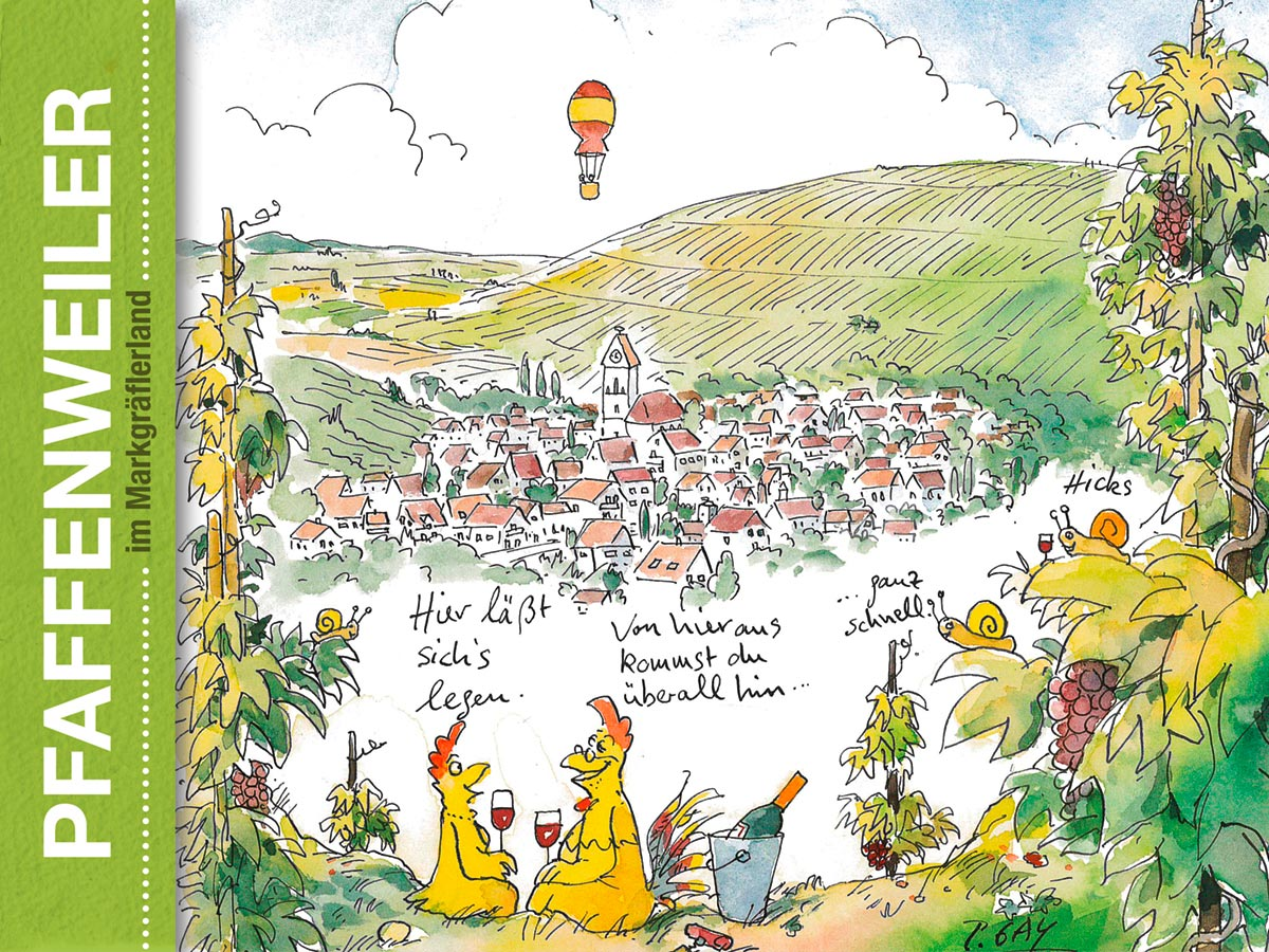 Eine Tourismusbroschüre in Zusammenarbeit mit Peter Gayman - Pfaffenweiler im Markgräflerland