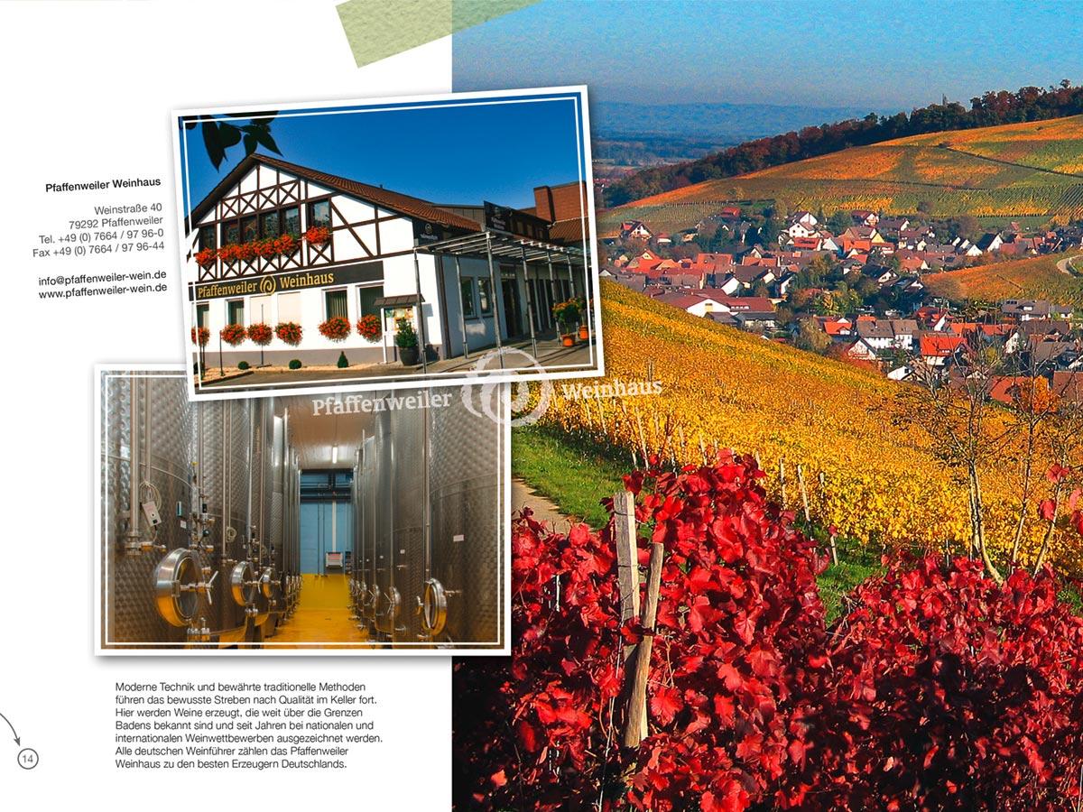 Tourismusbroschüre - Weinhaus - Pfaffenweiler