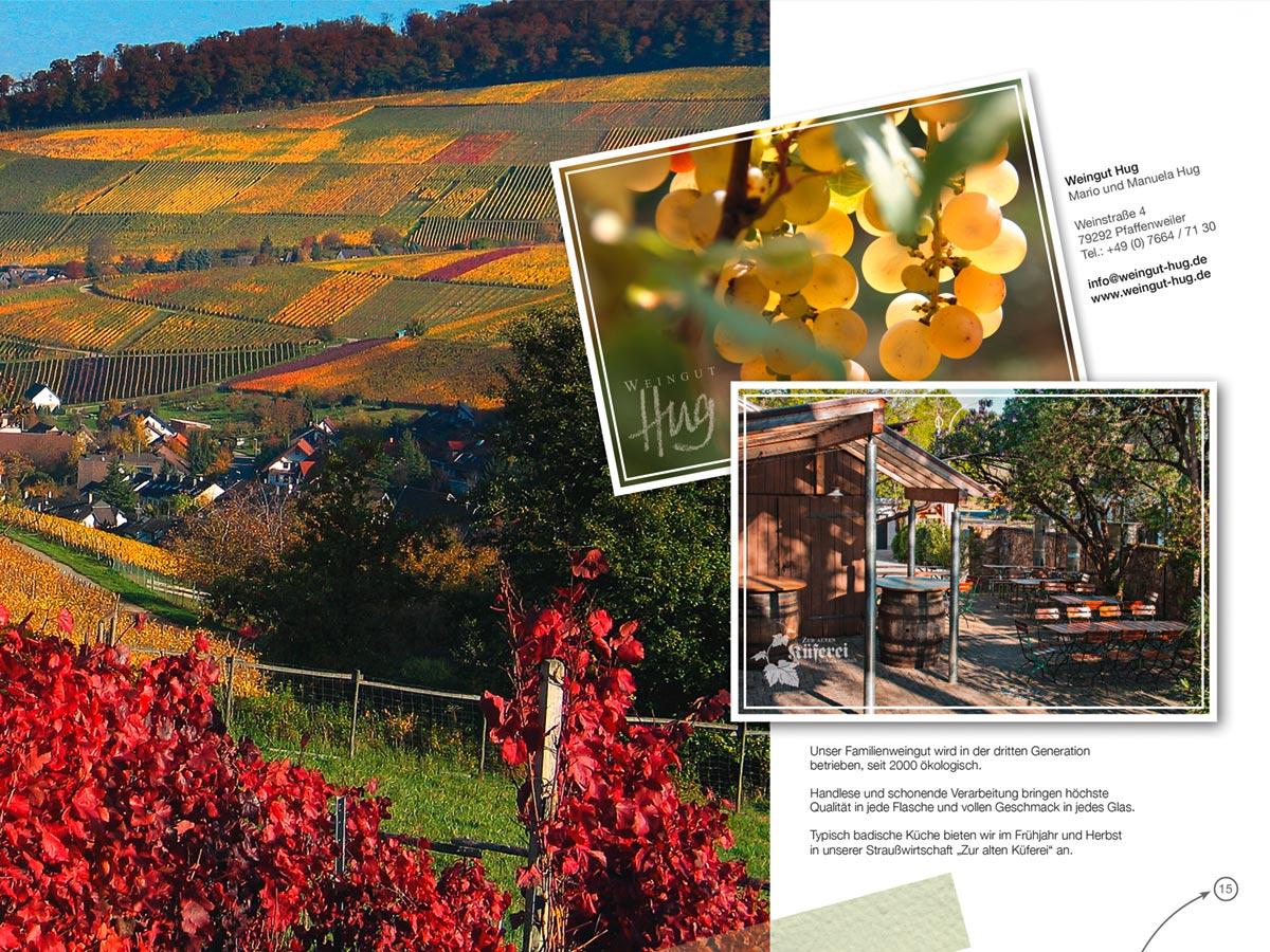 Tourismusbroschüre - Weingut Hug - Zur Alten Küferei - Pfaffenweiler