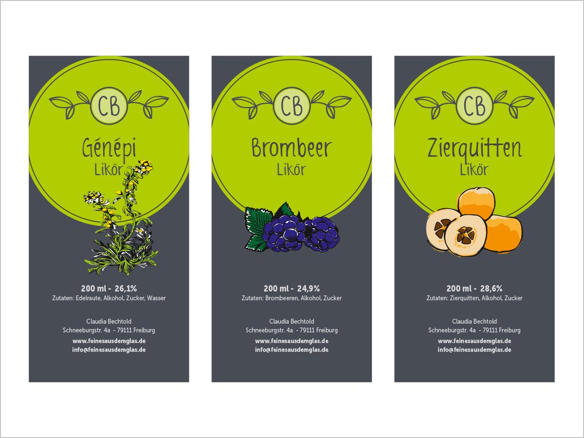 Design & Print - Etikettendesign - Freiburg | Feines aus dem Glas