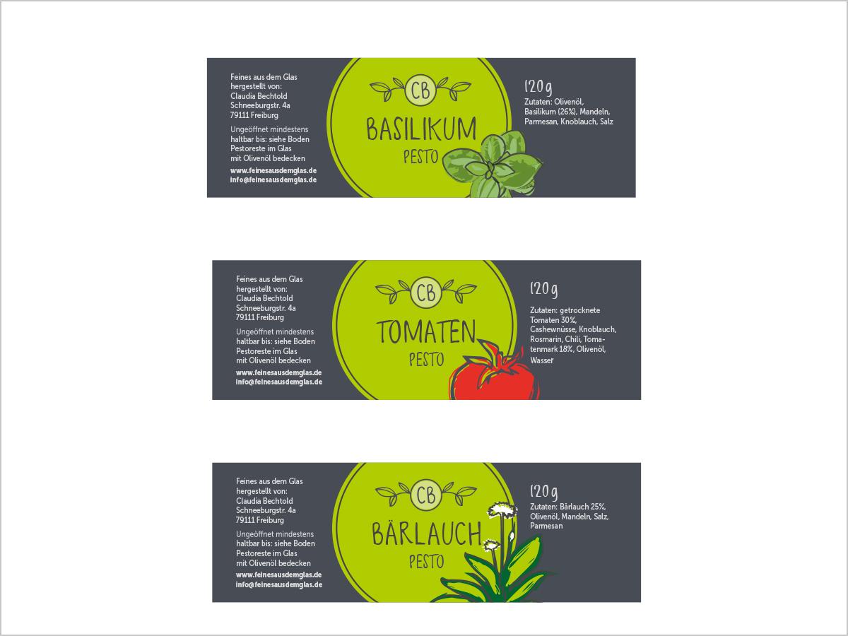 Grafikdesign Freiburg - Etiketten | Feines aus dem Glas