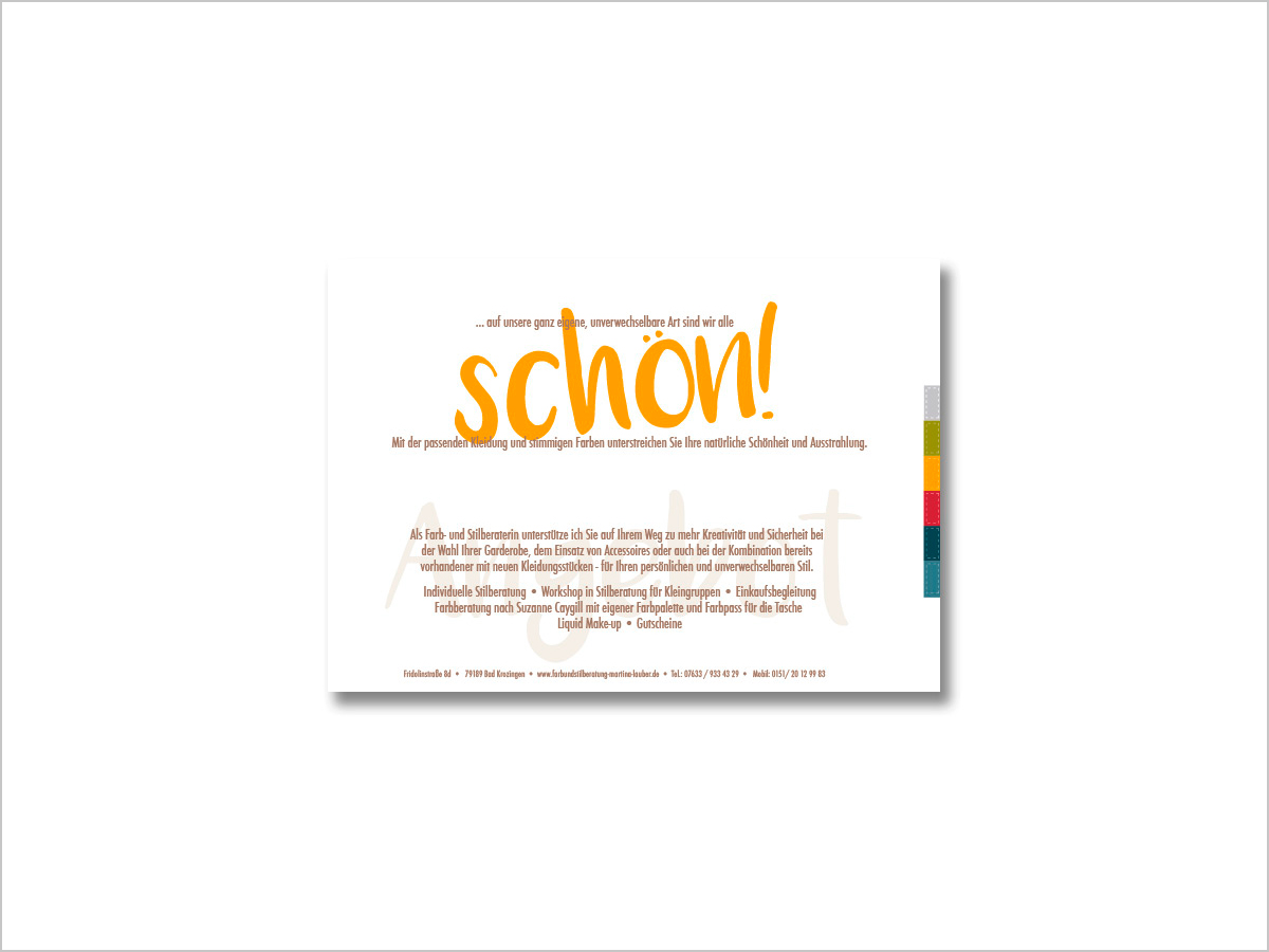 Flyer-Design | Martina Lauber | © debeuf grafikdesign