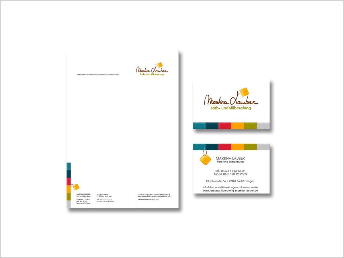 Grafikdesign - Visitenkarte - Briefbogen - Geschäftsausstattung - Martina Lauber | © debeuf grafikdesign