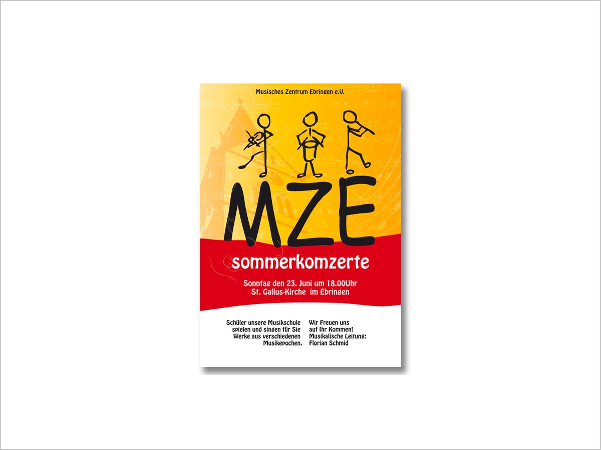 Grafikdesign | Flyer vom Musischen Zentrum in Ebringen | © debeuf grafikdesign