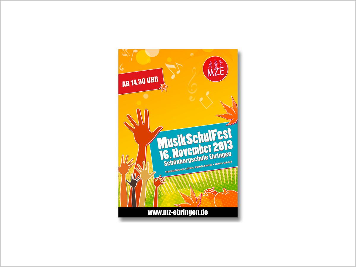 Grafikdesign | Flyer | Musikschulfest | Musisches Zentrum Ebringen | © debeuf grafikdesign