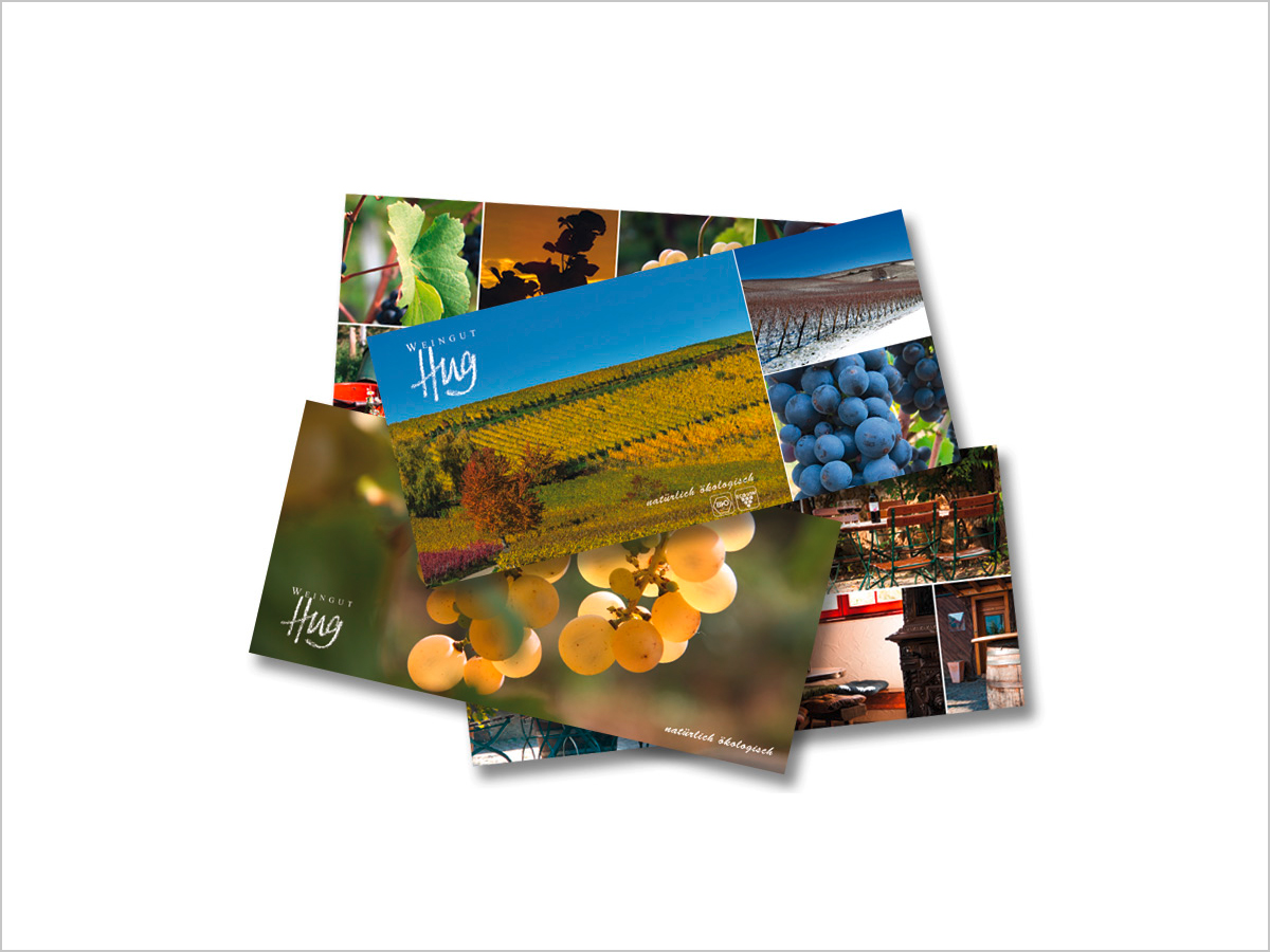Grafikdesign | Postkarten | Weingut Hug in Pfaffenweiler bei Freiburg i. Breisgau | © debeuf grafikdesign