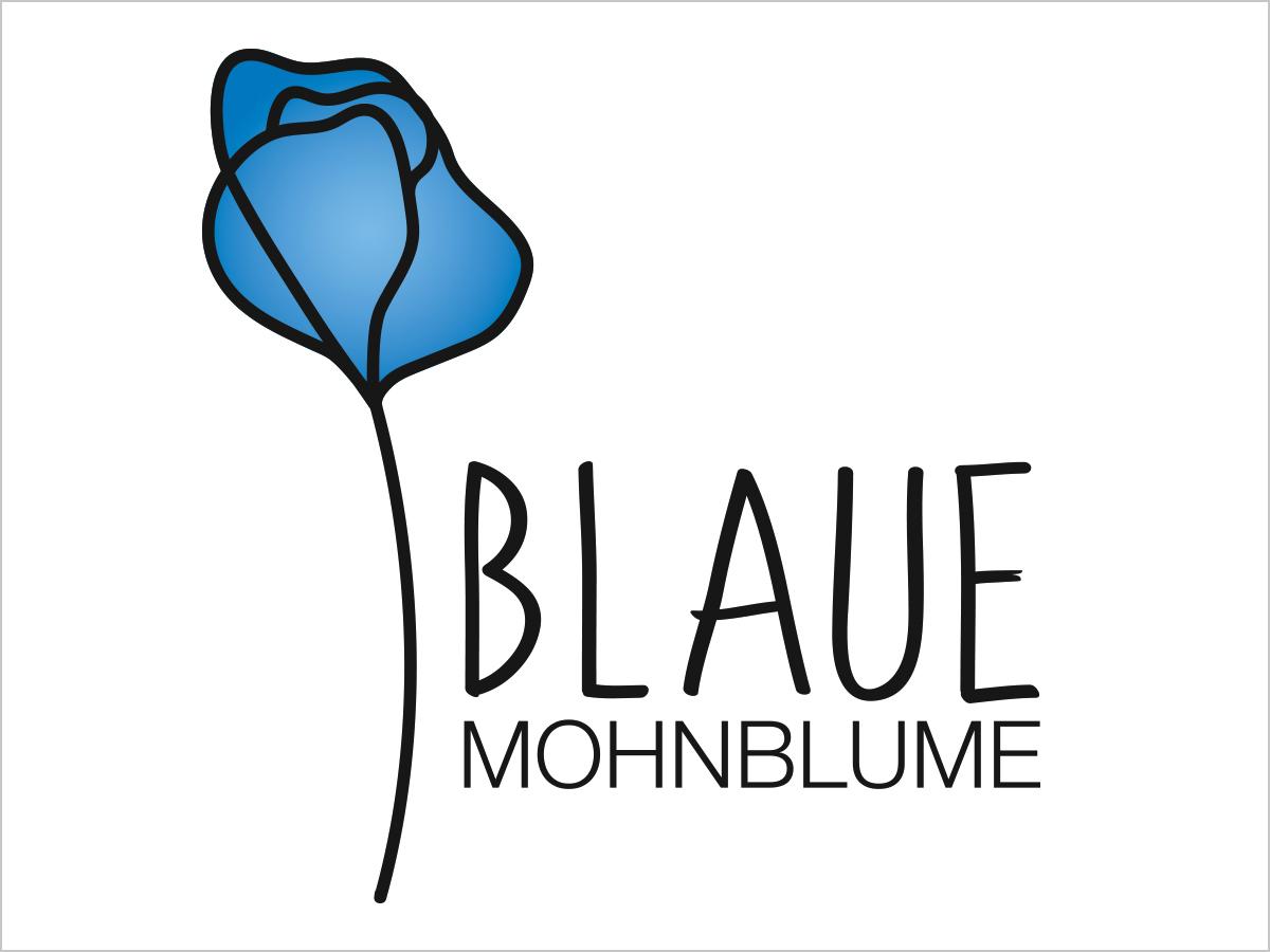 Logo-Design | Logo-Entwicklung | 'Blaue Mohnblume' in Freiburg | © debeuf grafikdesign