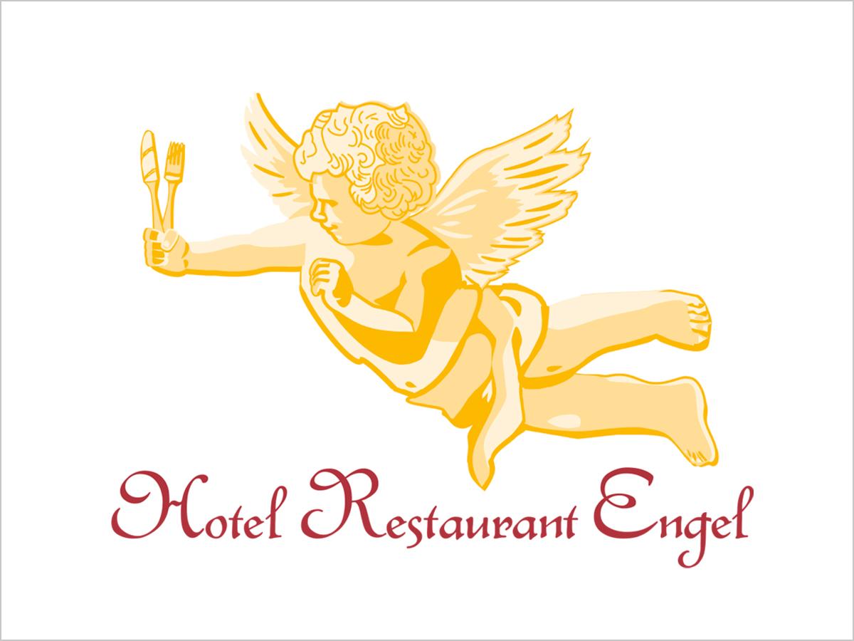 Das Logo vom Hotel-Restaurant Engel in Pfaffenweiler | © debeuf grafikdesign