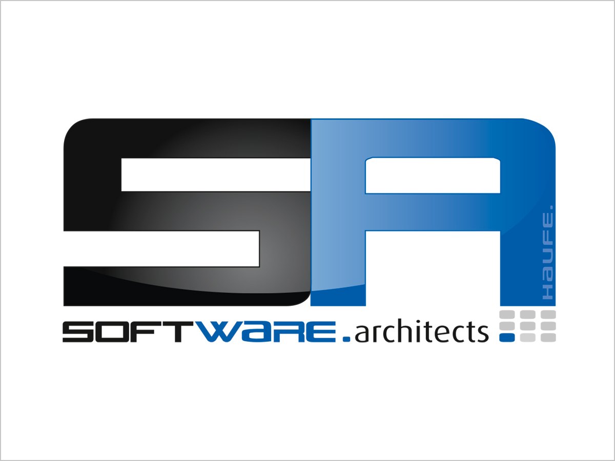 Logo-Design | Logo Haufe Software-Architects | © debeuf grafikdesign