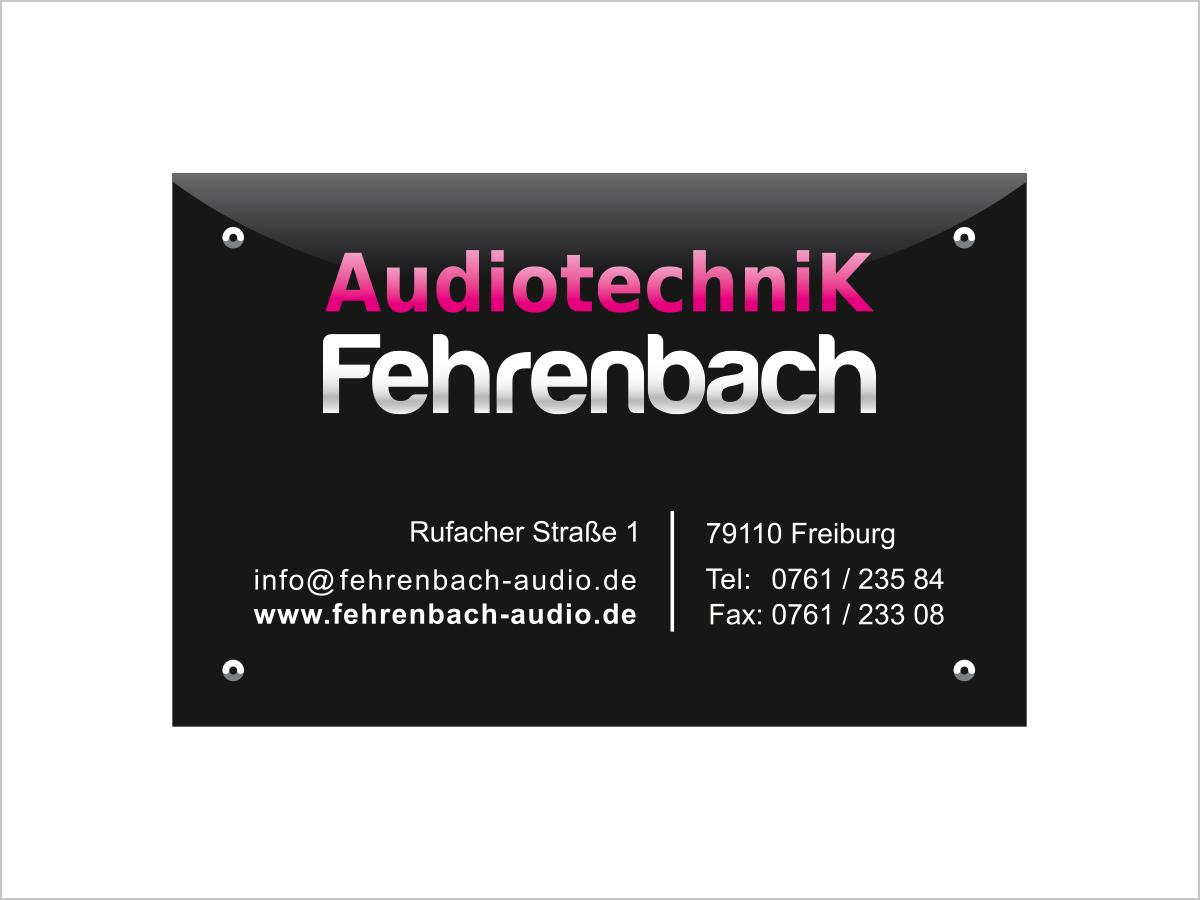 Visitenkarte für Audiotechnik Fehrenbach in Freiburg | © debeuf grafikdesign