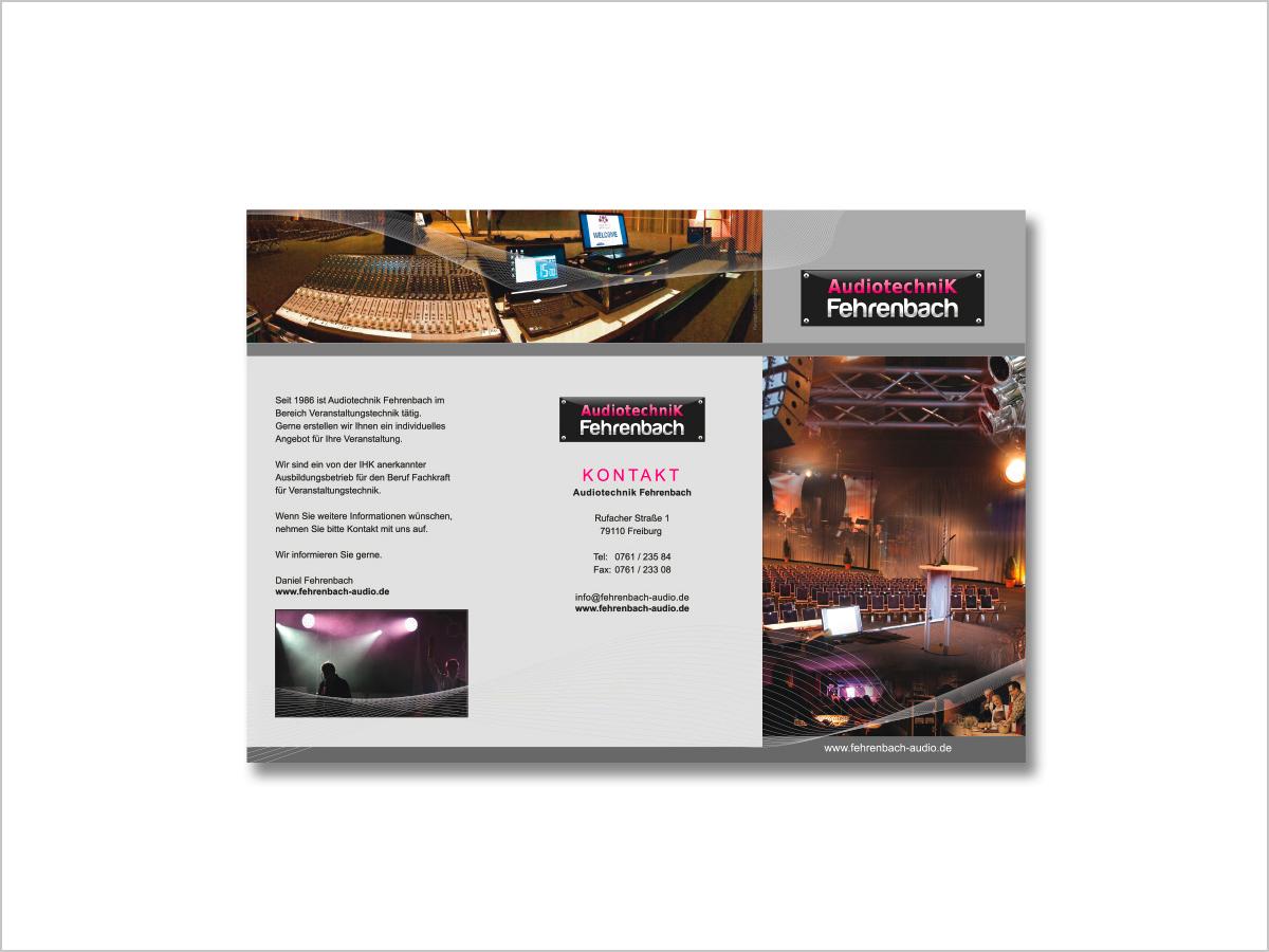 Grafikdesign | Print - Flyer für Audio Fehrenbach in Freiburg | © debeuf grafikdesign