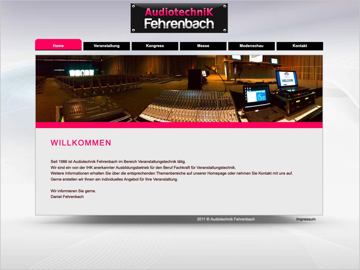 Webdesign - Audiotechnik Fehrenbach in Freiburg | © debeuf grafikdesign