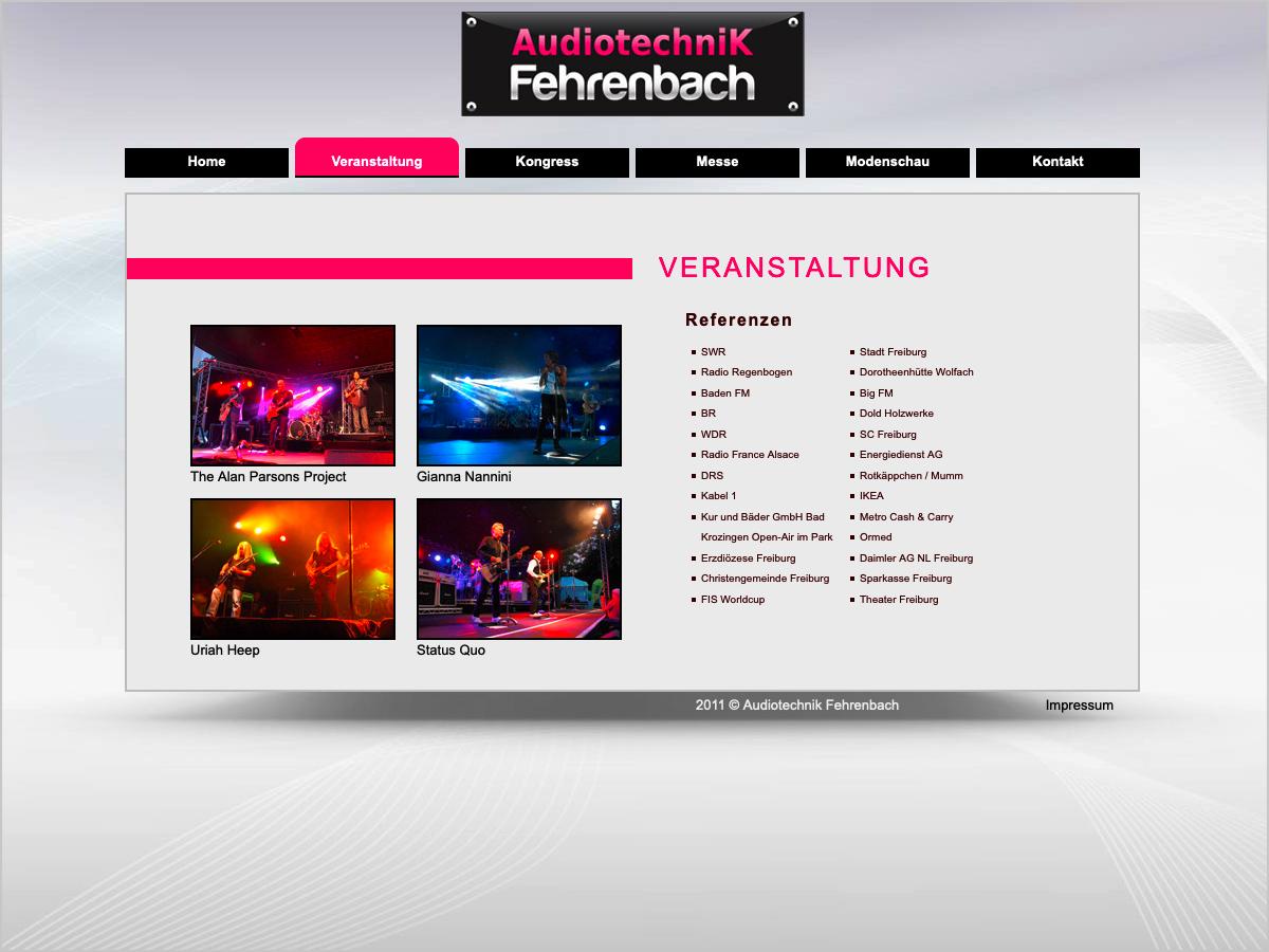 Audiotechnik Fehrenbach in Freiburg | © debeuf grafikdesign