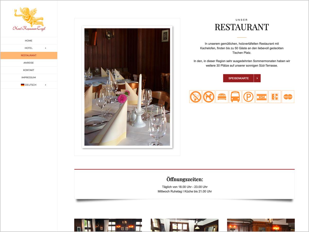 Webdesign | Hotel Restaurant Engel in Pfaffenweiler