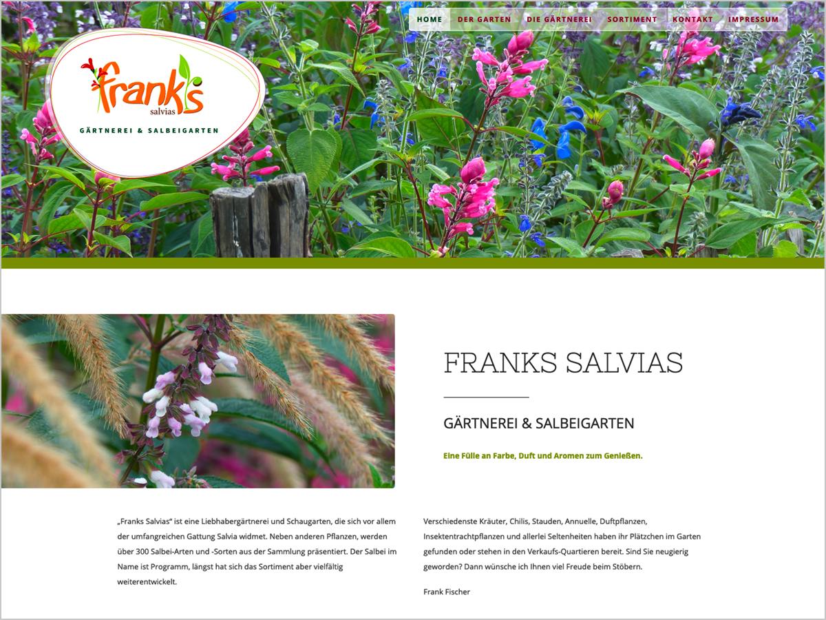 Webdesign | Gärtnerei & Salbeigarten - Frank's Salvias - Freiburg im Breisgau