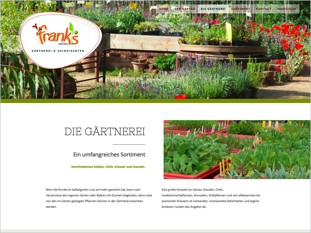 Webdesign - Freiburg | Gärtnerei - Frank's Salvias - Umkirch