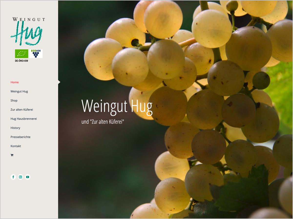 Webdesign | Weingut Hug und Straußwirtschaft - Pfaffenweiler bei Freiburg im Breisgau