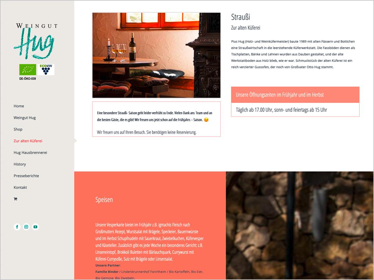 Webdesign | Straußwirtschaft Zur Alten Küferei - Pfaffenweiler bei Freiburg im Breisgau