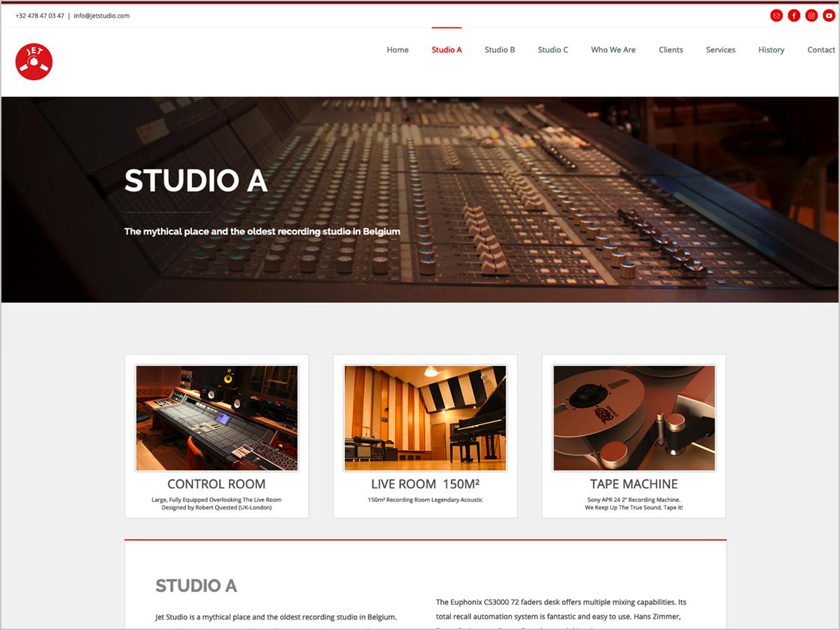 Webdesign | Jet Studio Brüssel - Studio A
