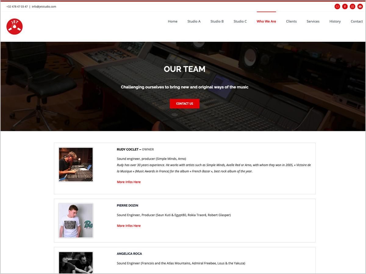 Webdesign | Jet Studio in Brüssel | Team - Rudy Coclet