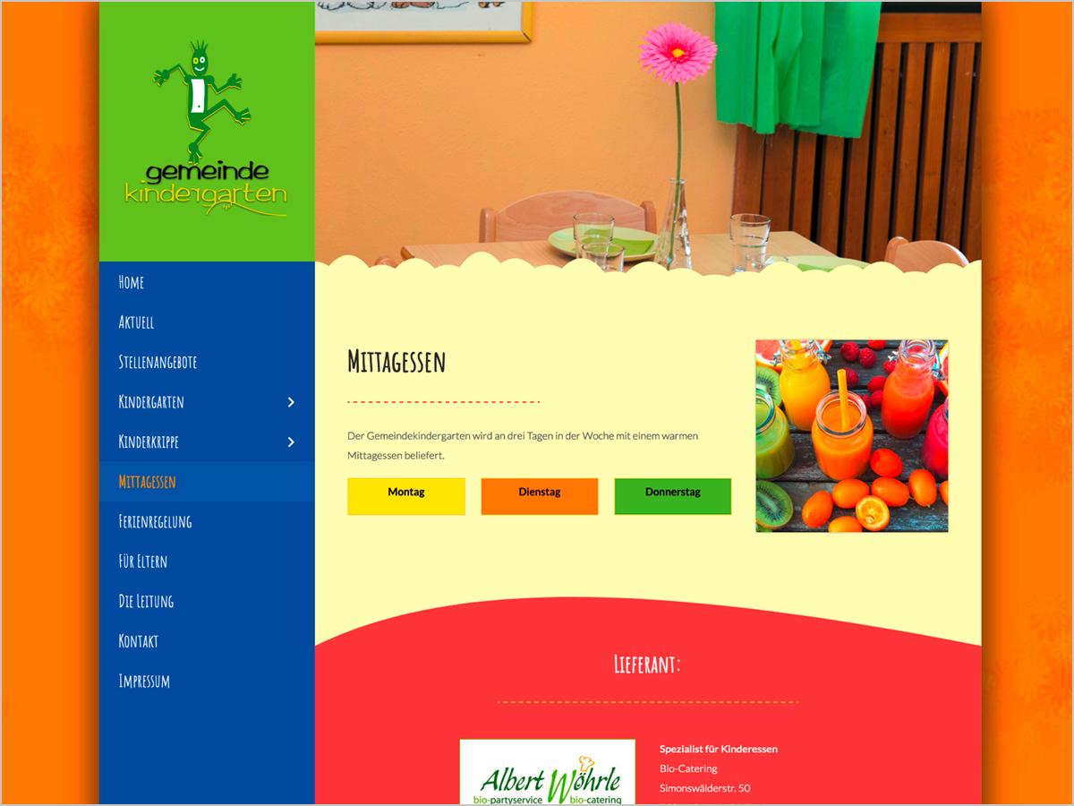 Gemeinde Kindergarten Pfaffenweiler - Mittagessen