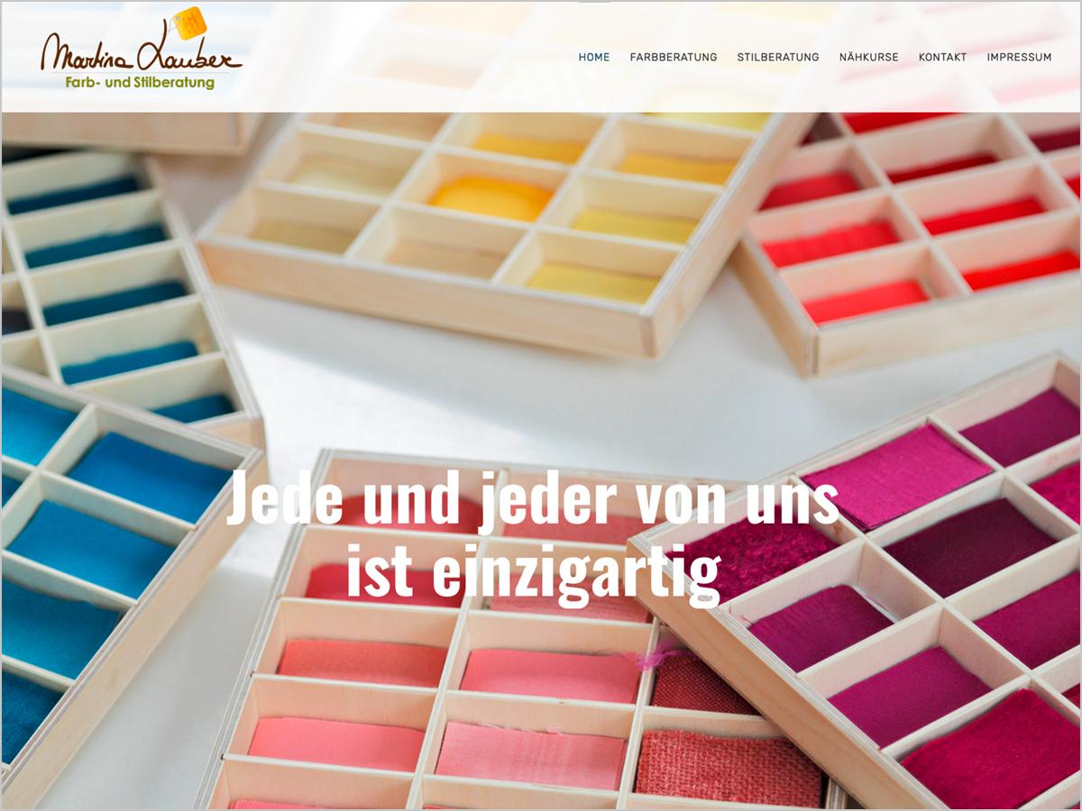 Webdesign | Martina Lauber - Farb- & Stilberatung - Bad Krozingen - Ebringen