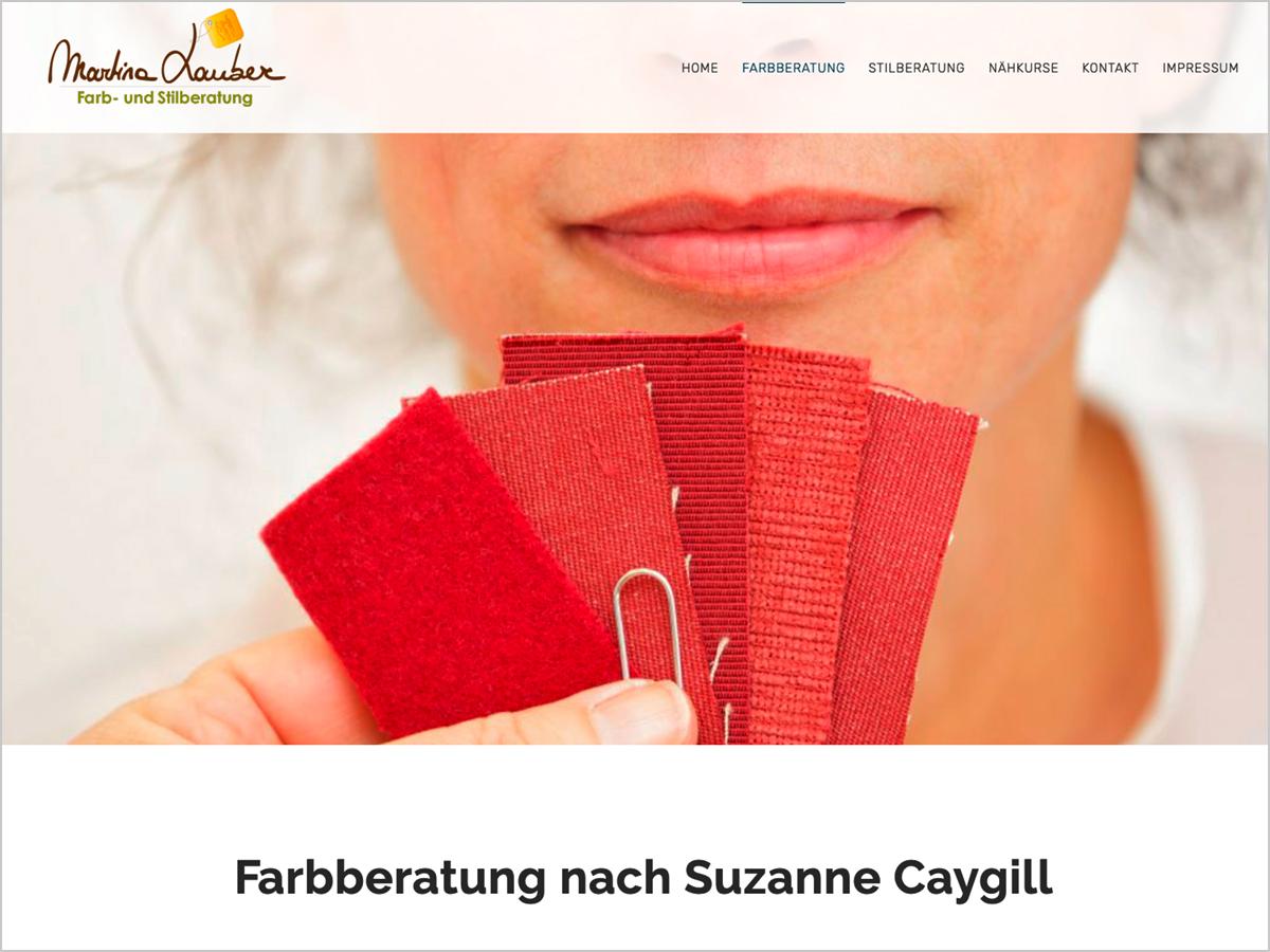 Webdesign | Martina Lauber - Farb- & Stilberatung - Ebringen