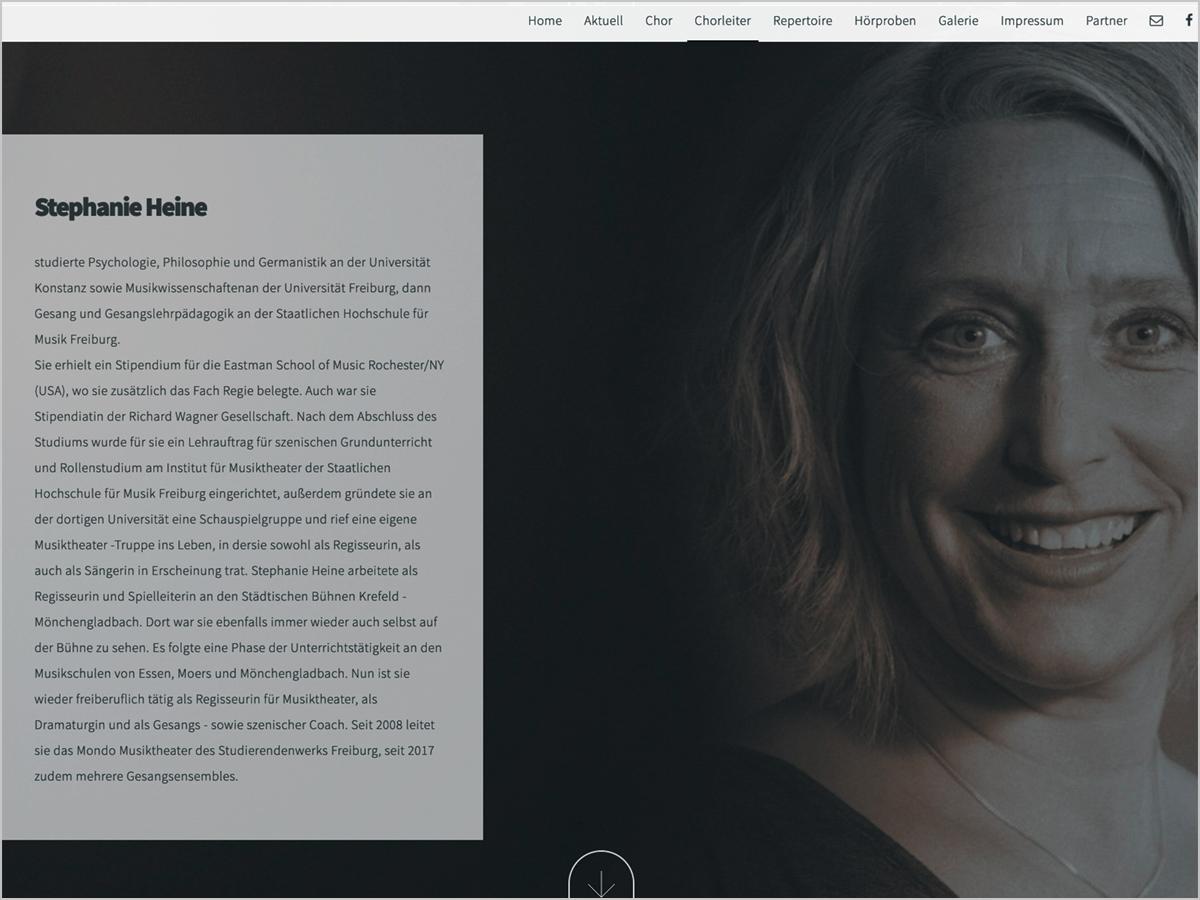 Webdesign - Frauenchor Sonidos in Ebringen | © debeuf grafikdesign