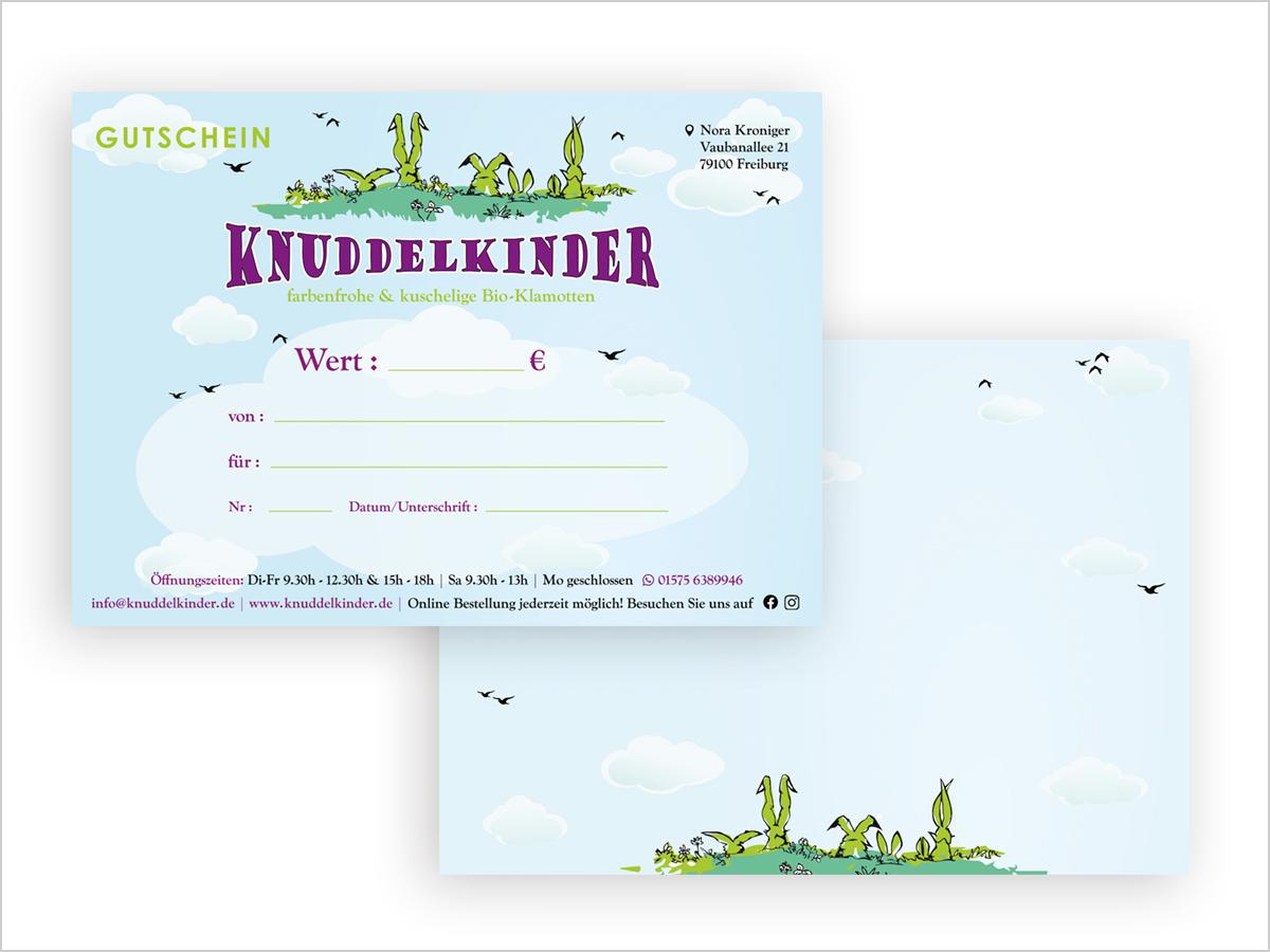 Gutschein Design - Freiburg | Gutschein-Entwicklung | Knuddelkinder